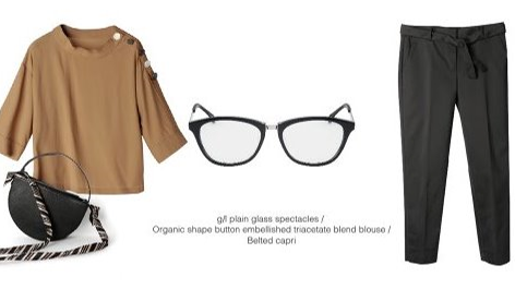 be conscious and stylish                       wear your pair of g/l glasses