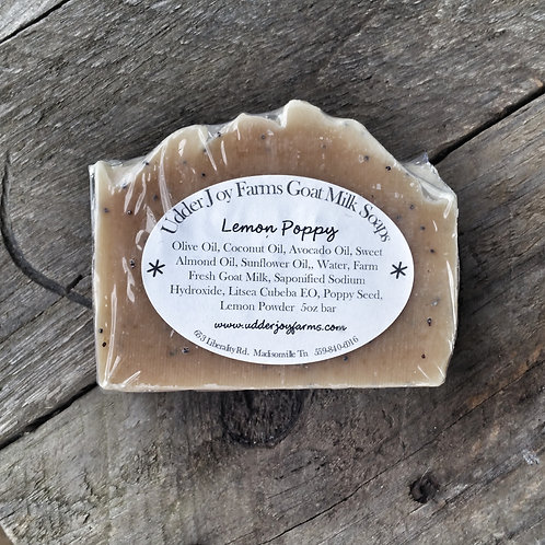 Lemon Poppy Goat Milk Soap