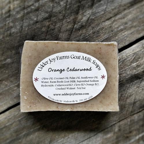Orange Cedarwood Goat Milk Soap