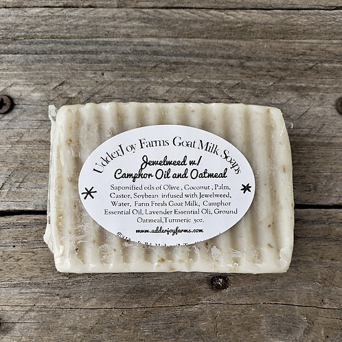 Jewelweed with Camphor & Oatmeal Goat Milk Soap