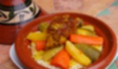 Morocco Couscous dish - Tajine roasted c