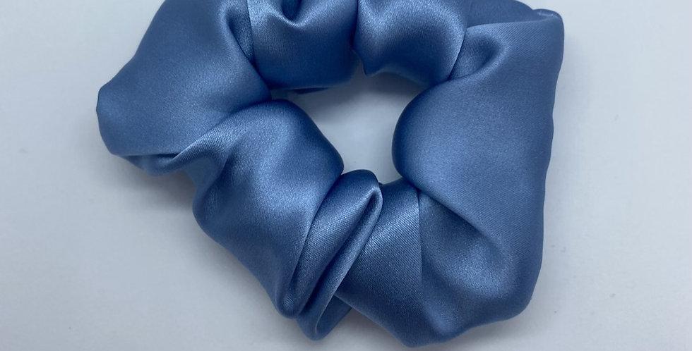 Premium Blue Silk Scrunchie