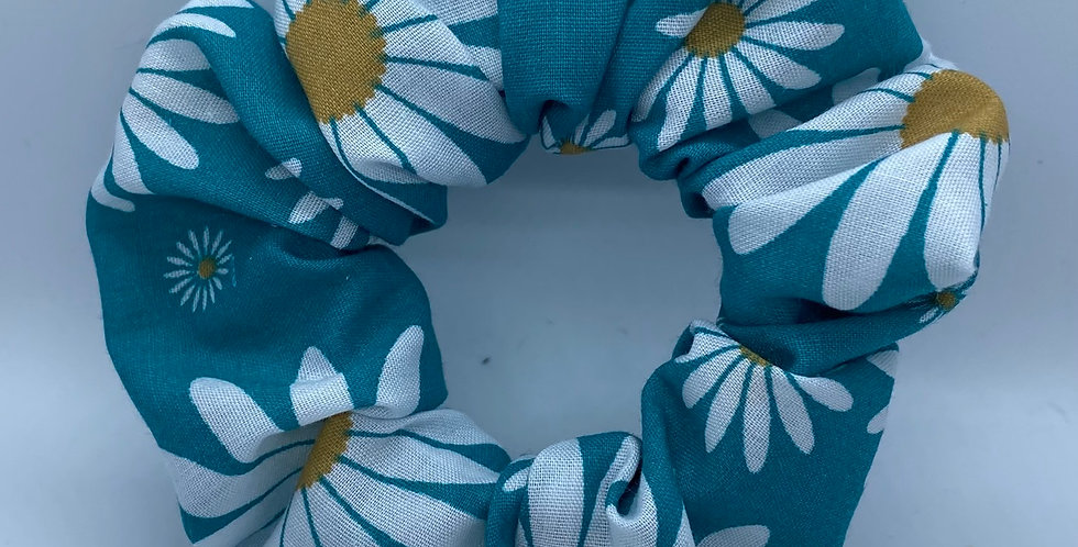 Blue Daisy Scrunchie