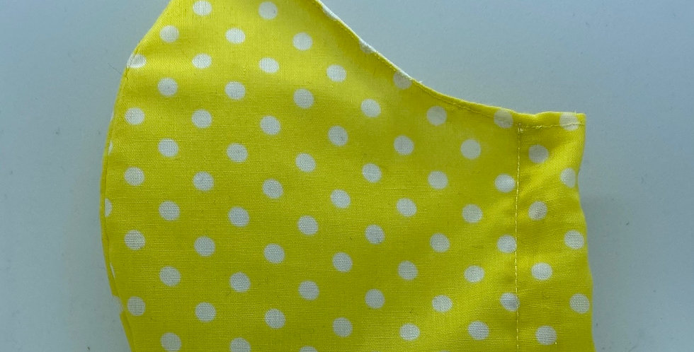Yellow Polkadot Face Mask