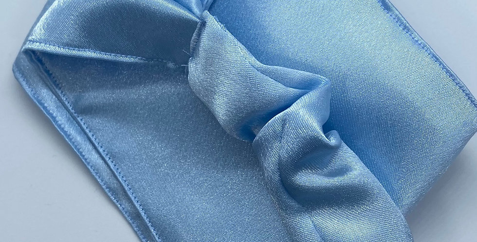 Light Blue Satin Headband