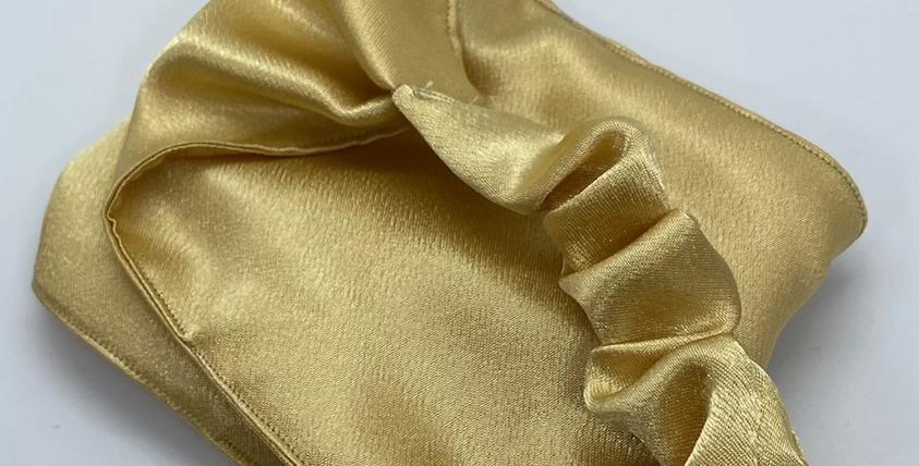 Gold Satin Headband
