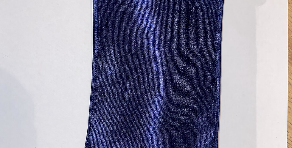 Dark Blue Satin Headband
