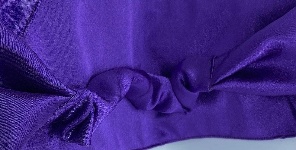 Dark Purple Satin Headband