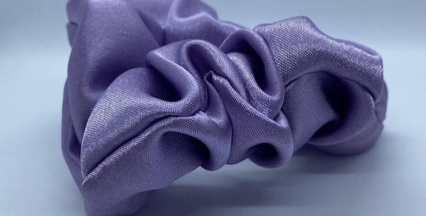 Lilac Satin Scrunchie