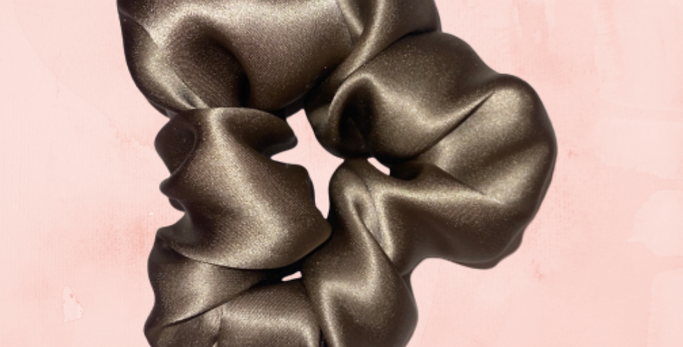 Premium Antique Gold Silk Scrunchie