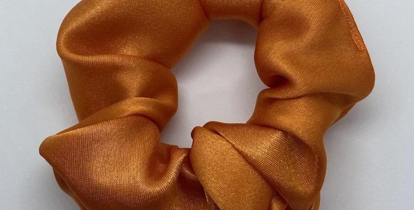 Orange Satin Scrunchie