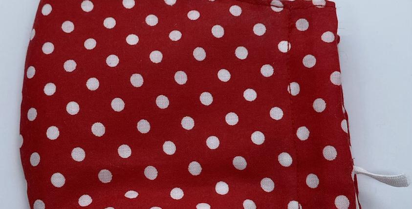 Red Polkadot Face Mask