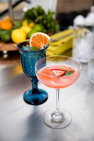 Paloma Cocktail and Strawberry Basil Mar