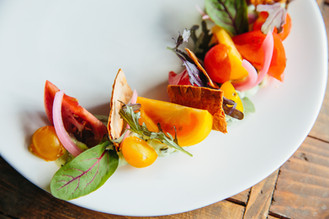 Deconstructed Heirloom Tomato Tart