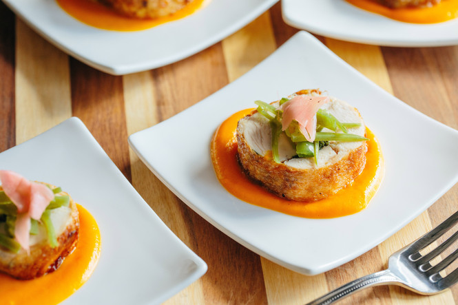 Organic Chicken with Ginger-Carrot Emulsion