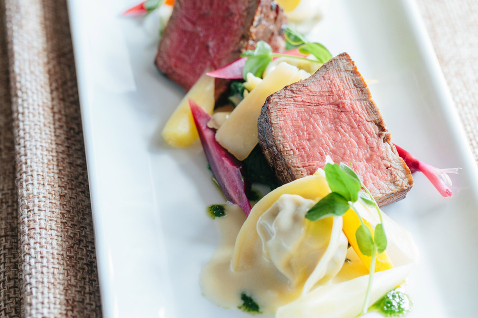 Prime Filet of Beef with Housemade Short Rib Tortelloni