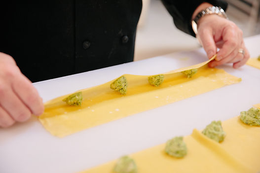 Spring Pea Agnolotti Pasta by Capers Catering