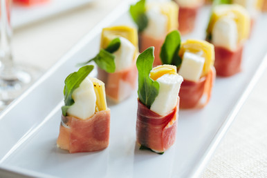 Artichoke, Speck and Mozzarella Hors D'Oeuvres