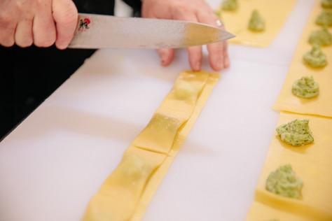 Handmade Spring Pea Agnolotti