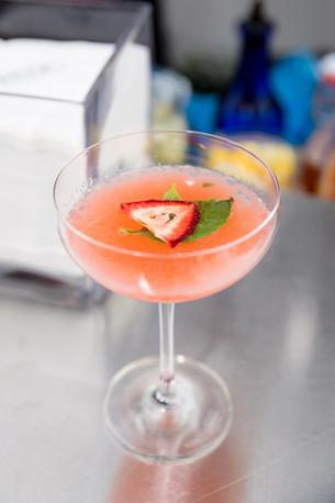 Strawberry Basil Martini Boston Mobile B