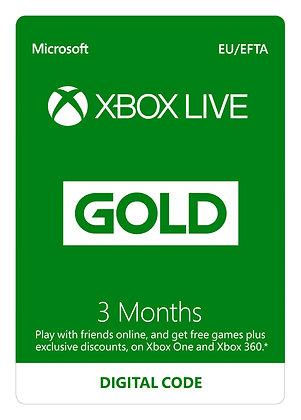 Xbox LIVE Prepaid 3 Month Gold Membership Card