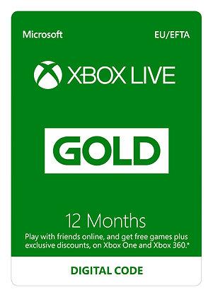 Xbox LIVE Prepaid 12 Month Gold Membership Card