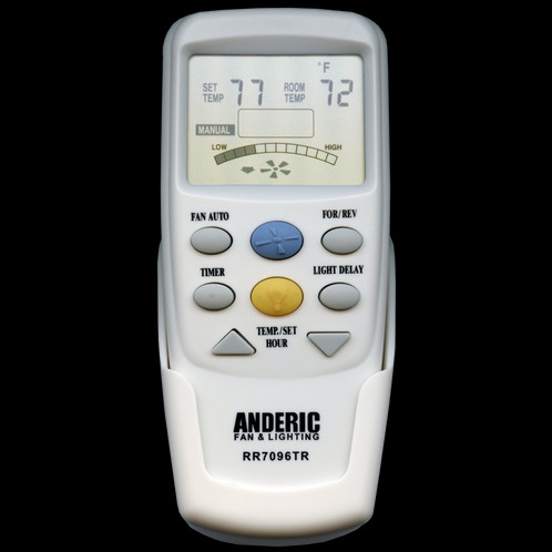 Rr7096tr with reverse ceiling fan remote control anderic the anderic rr7096tr thermostatic remote control replaces the original equipment hampton bay and harbor breeze ceiling fan remotes aloadofball Image collections