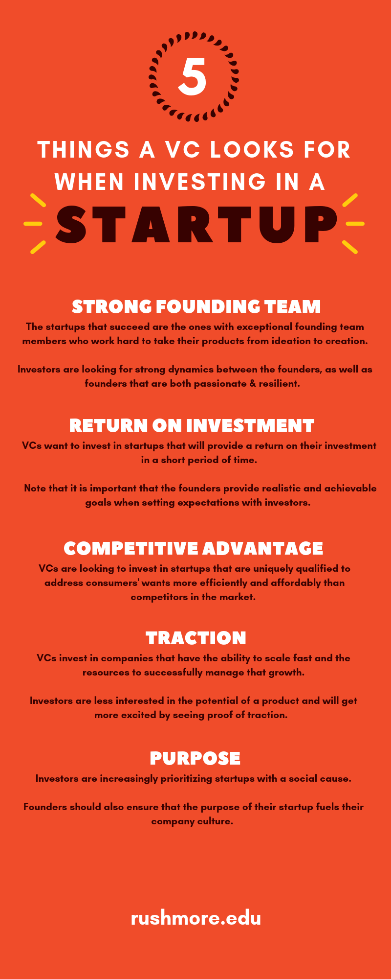 Things a VC looks for in a startup