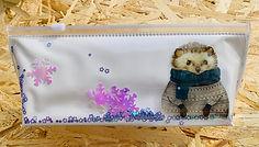Пенал-шейкер с дном (объемный) с рисунком и пайетками. Размер 200х100х50