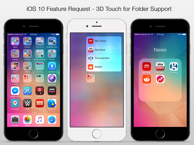 3D Touch on Folders