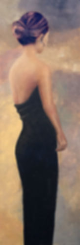 Lady in black dress