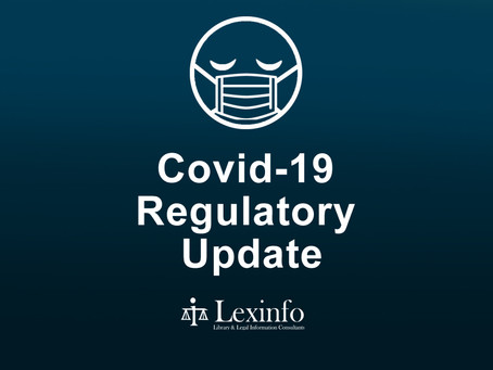 Amendments to Covid-19 Regulations and Directions
