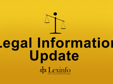 Legal Information Update: 22 – 26  February 2021