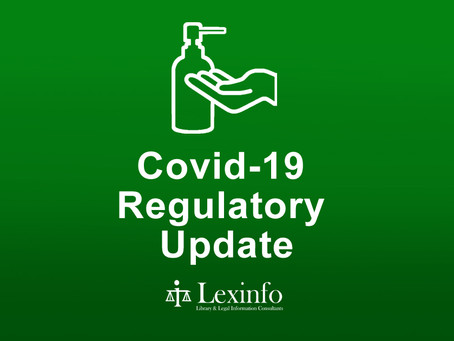 Covid-19 Regulatory Update: 25 - 31 August 2021