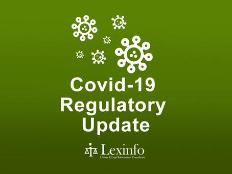 Covid-19 Regulatory Update: 15 - 21 September 2021
