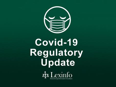 Covid-19 Regulatory Update: 1 - 7 September 2021