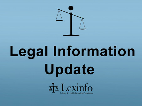 Legal Information Update: 15 – 19 February 2021