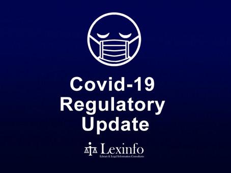Covid-19 Regulatory Update:  22 - 28 September 2021