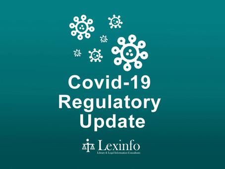 Covid-19 Regulatory Update: 18 - 24 August 2021