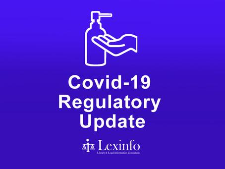 Covid-19 Regulatory Update: 6 to 12 October 2021