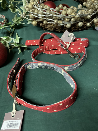 Blossom & Co dog lead - Angus, Red Spot