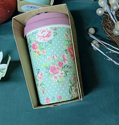 Bamboo Reusable Cup - Floral