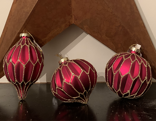 Red & Glitter Baubles