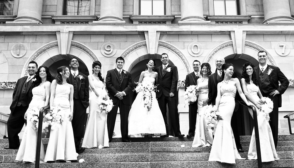 Bridal Party have a great time during formals