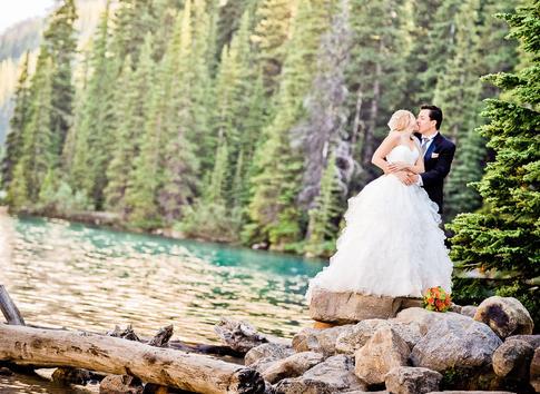 Morraine Lake - Wedding photo