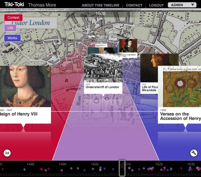 Digital Tools #1: Tiki-Toki Timeline of Thomas More