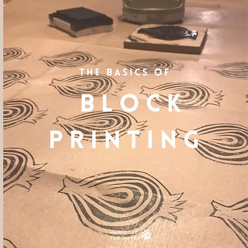 """Basics of Block Printing"" E-book"