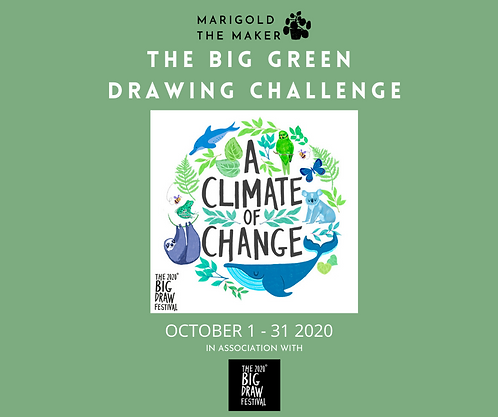 THE BIG GREEN DRAWING CHALLENGE