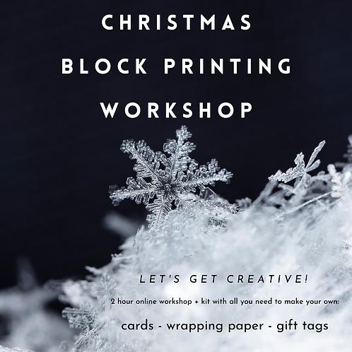 Christmas Block Printing Workshop