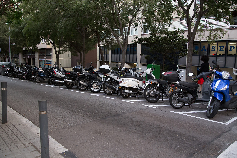 Scooter parking for days!